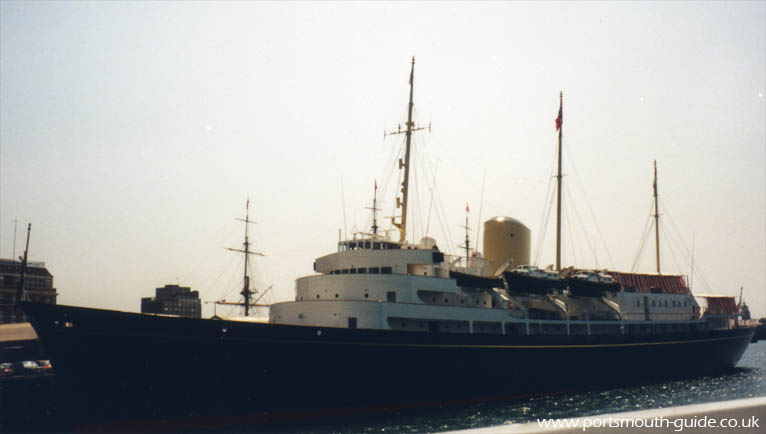 HMY Britannia At Railway Jetty Portsmouth Dockyard